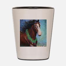 Jingle Bell Horse Shot Glass