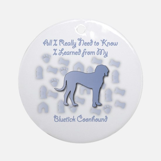 Learned Bluetick Ornament (Round)