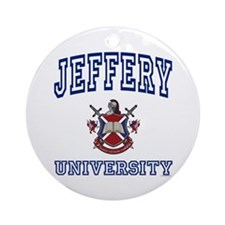 JEFFERY University Ornament (Round)