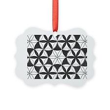 Fl_of_Lf_BW_toiletry_bag Ornament