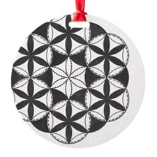 Fl_of_Lf_BW_tile Ornament