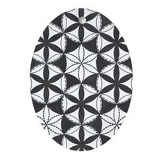 Fl_of_Lf_BW_ipod_touch Oval Ornament