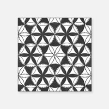 """Fl_of_Lf_BW_notecard_front Square Sticker 3"""" x 3"""""""