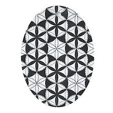 Fl_of_Lf_BW_kindle_sleeve Oval Ornament