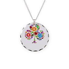 klavertje 4 Necklace Circle Charm