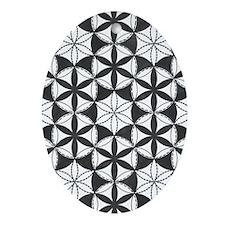 Fl_of_Lf_BW_5x8_journal Oval Ornament