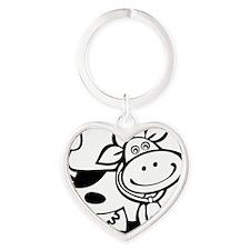 cow Heart Keychain