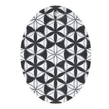 Fl_of_Lf_BW_7.5x5.5_grt_crd_front Oval Ornament