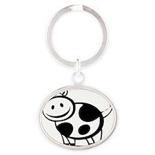 cow7 Oval Keychain