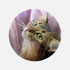 """cat portrait 3.5"""" Button"""