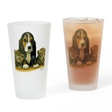 Basset Pup Drinking Glass