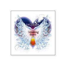"""angel wings breaking dawn g Square Sticker 3"""" x 3"""""""