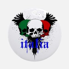 italia skull Round Ornament