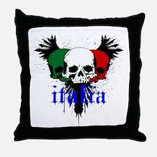 italia skull Throw Pillow