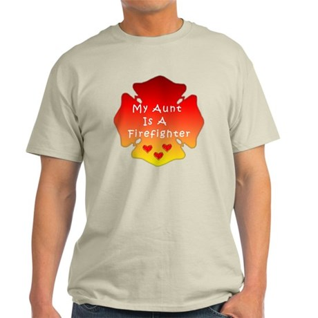 Firefighter Aunt Light T-Shirt
