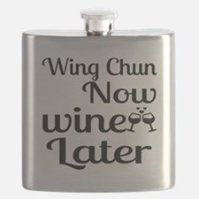 Wing Chun Now Wine Later Flask
