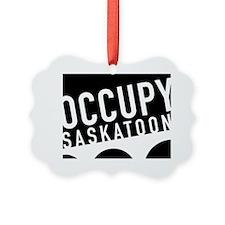 occupy saskatoon black Ornament