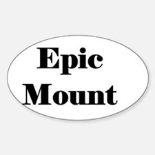 Epic Mount Oval Decal