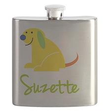 Suzette-loves-puppies Flask