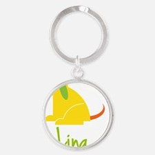 Lina-loves-puppies Round Keychain