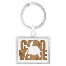Cape Verde Turtle Brown Sand Landscape Keychain