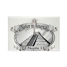 Savior in America - Book of Mormo Rectangle Magnet