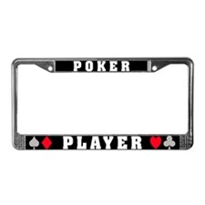 Poker Player license plate frame