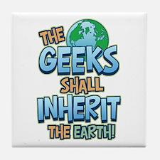 Geeks Inherit Earth Tile Coaster