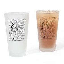 6291_lab_cartoon Drinking Glass