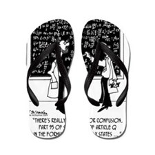 5994_chemistry_cartoon Flip Flops