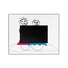 Lesbian snowmen Picture Frame