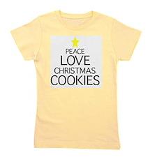 Peace, Love, Christmas Cookies Girl's Tee
