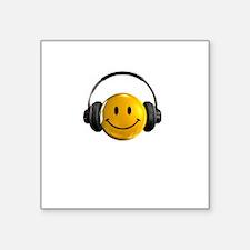"Headphones Farts2 Square Sticker 3"" x 3"""