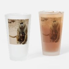 Baboon-Baby4 Drinking Glass