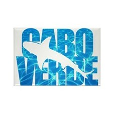 Cabo Verde Tiger Shark Blue Water Rectangle Magnet