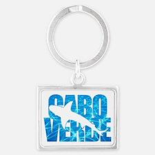Cabo Verde Tiger Shark Blue Wat Landscape Keychain
