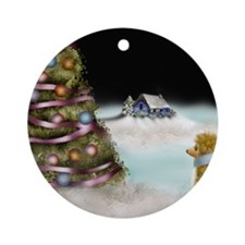 trehomcard Round Ornament