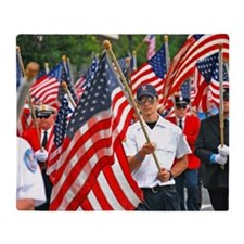 Flags on Parade Throw Blanket
