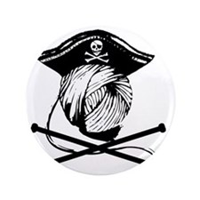 "Yarn Pirate 3.5"" Button"