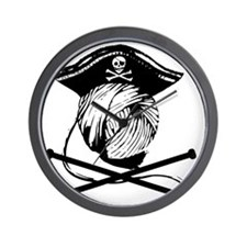 Yarn Pirate Wall Clock