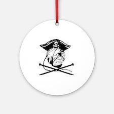 Yarn Pirate Round Ornament