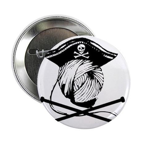 "Yarn Pirate 2.25"" Button"