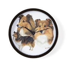Sheltie Multi Wall Clock