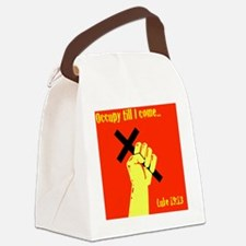 Occupy Til I Come Canvas Lunch Bag