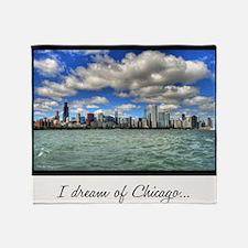ipad2-chicago-dream-wht Throw Blanket