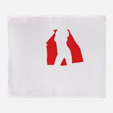 3HOs-NEG-withrealhos Throw Blanket