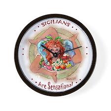 Sensational Sicilians Wall Clock