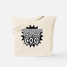 Thou shalt cog Tote Bag