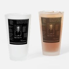 poe-text3 Drinking Glass