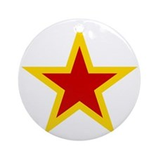 600px-URSS_aviation_yellow_bordered Round Ornament